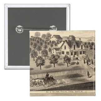 Residences of SA Nay and DM Winans 15 Cm Square Badge