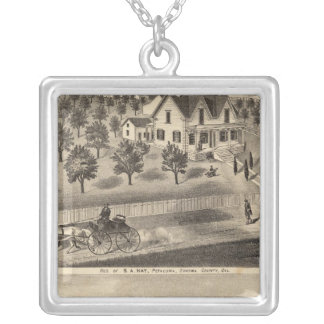 Residences of SA Nay and DM Winans Silver Plated Necklace