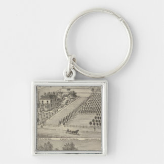 Residences Woodland, Knights Landing Silver-Colored Square Key Ring