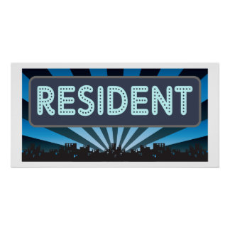 Resident Marquee Posters