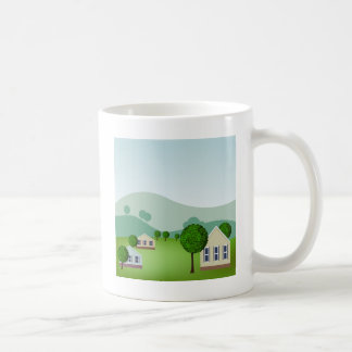 Residential Neighborhood Homes Cartoon Coffee Mug