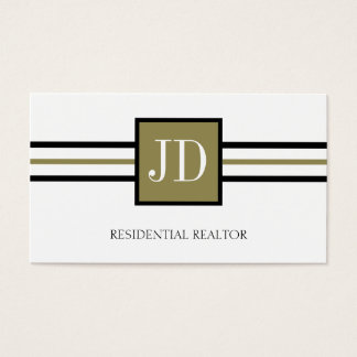 Residential Realtor Broker Monogram White Paper