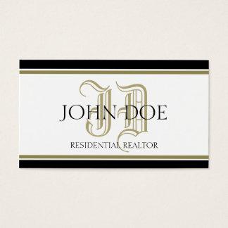 Residential Realtor Gold Roman Business Card