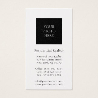 Residential Realtor Head Shot Gold Paper Business Card