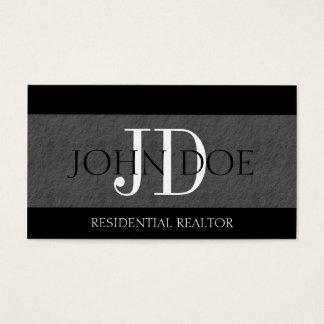 Residential Realtor Real Estate Monogram Slate Business Card