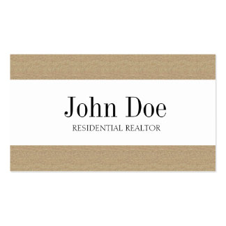Residential Realtor Real Estate Texture Tan Stripe Business Cards