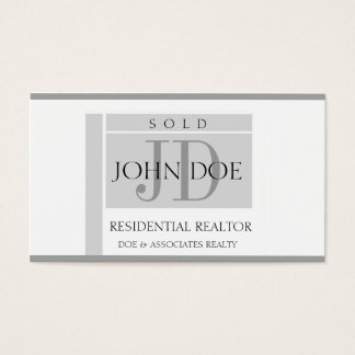 Residential Realtor Sign Edges W/W Business Card