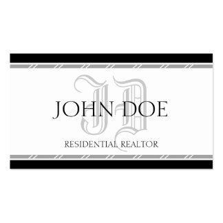 Residential Realtor Silver Roman Business Card Template