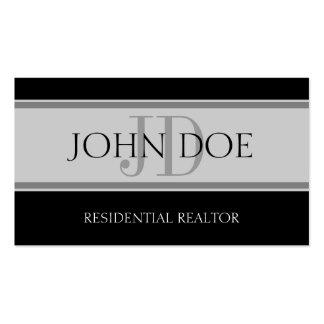 Residential Realtor Stripe Lt Grey Business Cards