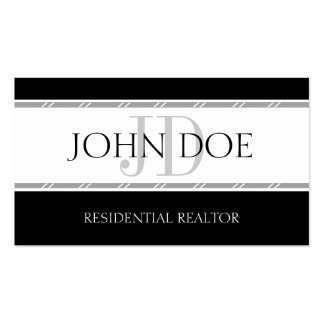 Residential Realtor Stripe W/W Business Card Template