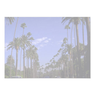 Residential Rodeo Drive, Beverly Hills, California 13 Cm X 18 Cm Invitation Card