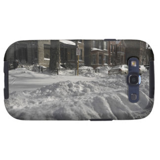 Residential urban (city) street on sunny winter 2 galaxy s3 covers