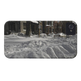 Residential urban (city) street on sunny winter 2 iPhone 4 case
