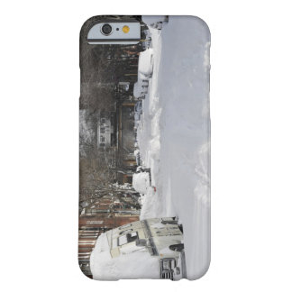 Residential urban (city) street on sunny winter barely there iPhone 6 case