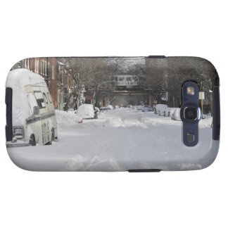 Residential urban (city) street on sunny winter galaxy SIII cases