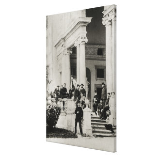 Residents of Villa Medici in Rome Canvas Print