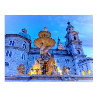 Residenzplatz in Salzburg, Austria Postcard