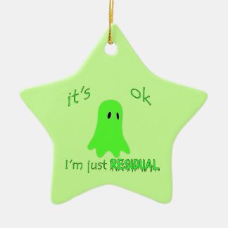 Residual Haunting - Green Ghost Christmas Ornament