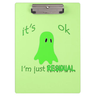 Residual Haunting - Green Ghost Clipboards