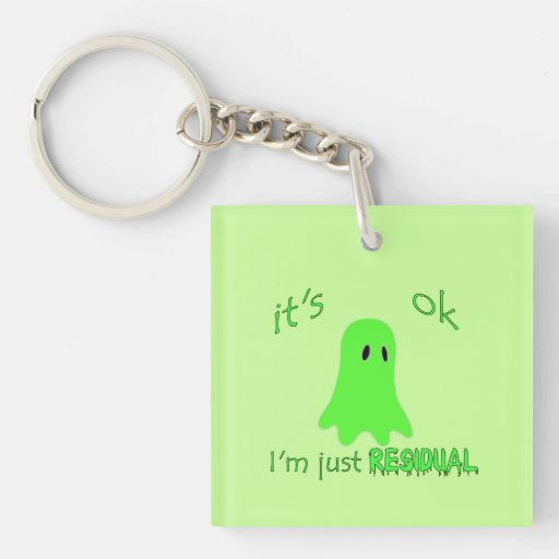 Residual Haunting - Green Ghost Acrylic Key Chains