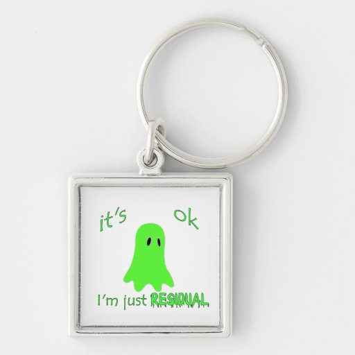Residual Haunting - Green Ghost Key Chains