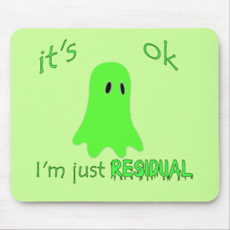 Residual Haunting - Green Ghost Mousepads