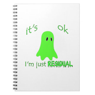 Residual Haunting - Green Ghost Spiral Note Book