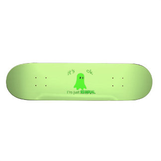 Residual Haunting - Green Ghost Skate Deck