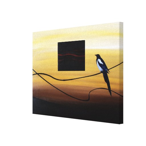 Resignation with Abstraction ( bird with nest) Stretched Canvas Print