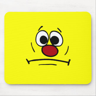 Resigned Smiley Face Grumpey Mouse Pad