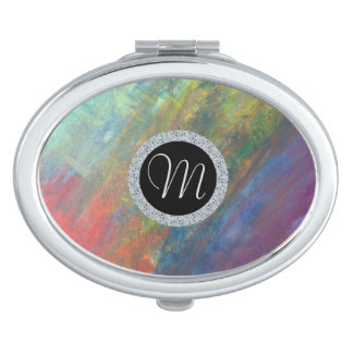 Resilient Beauty | Watercolor Rainbow Abstract | Travel Mirror