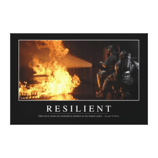 Resilient: Inspirational Quote Gallery Wrapped Canvas