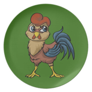 Resilient Rooster! Party Plates