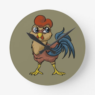Resilient Rooster! Round Clock