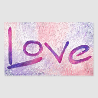 Resin Love Rectangle Stickers