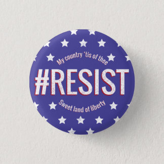 #Resist 3 Cm Round Badge