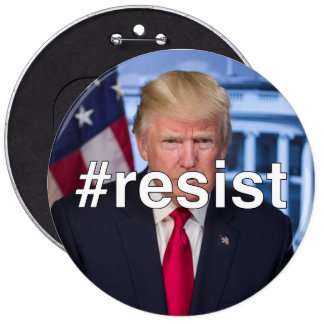#resist 6 cm round badge