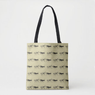 Resist Ants All-Over Print Tote Bag
