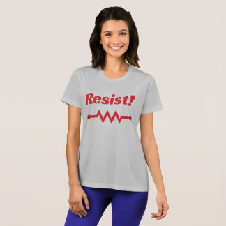 Resist! athletic t-shirt