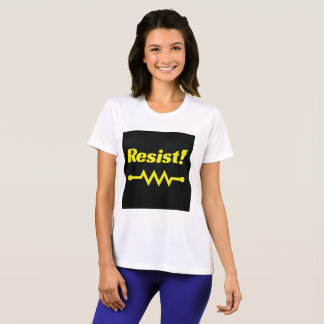 Resist! athletic t-shirt (black/yellow)