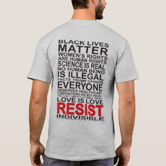 Resist - black fix on grey shirt