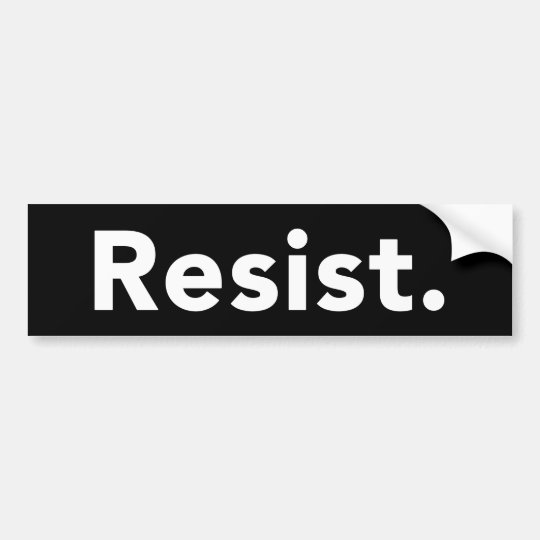 Resist Bumper Sticker - Black