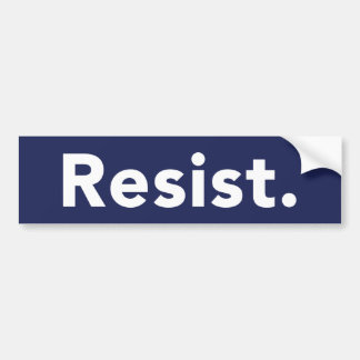 Resist Bumper Sticker - Blue