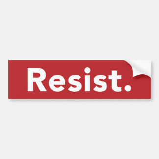 Resist Bumper Sticker - Red