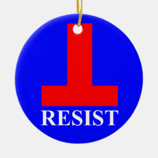 Resist Christmas Ornament
