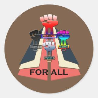 resist classic round sticker