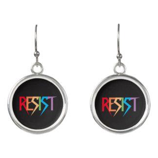 Resist Colorful Rainbow Earrings
