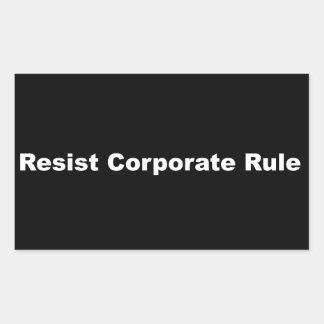 Resist Corporate Rule Matte Sticker