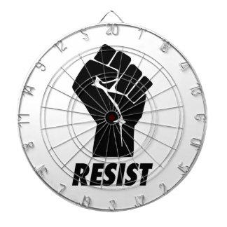 resist fist dartboard