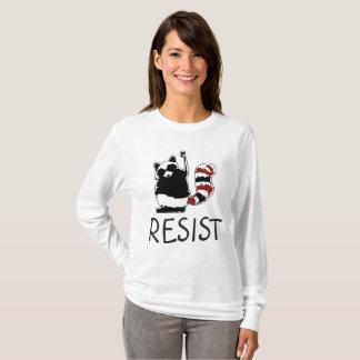 Resist Fist Raccoon Anti Donald Trump Women Shirt
